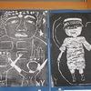 6年生:図工 木版画 完成・掲示