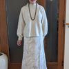 ローゲージニットを3月まで着るためには・・シフォンのスカートと異素材ミックスコーデ