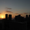 ハワイ旅行の思い出・・コンドから夕日
