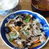 今日の食べ物 朝食に肉野菜炒め
