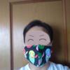 インコ柄のマスク