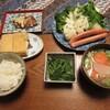 ウインナーと野菜サラダ