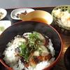 福井で焼き鯖丼