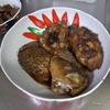 幸運な病のレシピ( 1774 )朝:鳥レバテリテリ、鯉甘露煮、煮しめ、シシャモ、鮭塩サバ、味噌汁、マユのご飯