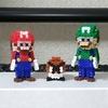 【アイロンビーズ3D】スーパーマリオブラザーズより、マリオ、ルイージ、クリボー