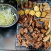 幸運な病のレシピ( 2454 )昼:揚げ物軍団(のど黒、餃子、春巻き、じゃがいも、さつまいも、鳥、)
