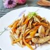 「簡単な方法でやわらか」鶏むね肉のきんぴら炒めの美味しいレシピ