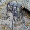 1】100均メタリック色鉛筆で夜の魔女ページを塗ってみます☆マンダラコロリアージュより