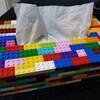 【息子の工作】レゴブロックでティッシュケースを作ってくれました