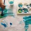 1歳児、筆デビュー シュタイナーの色遊びを参考に絵の具で遊ぶ