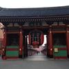 冬の朝日に美しい 浅草寺