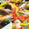 フライパンで作る魚介のパエリアのレシピ