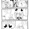 ガルパン漫画「羽子板で遊ぶドゥーチェ」